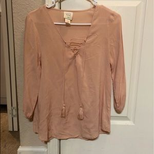 3/4 Sleeve Blouse with strings